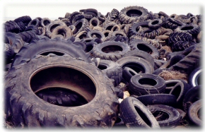 Pile of Old Tires photo